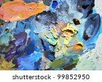 art palette background | Shutterstock . vector #99852950