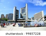 Stock photo toronto june nathan phillips square on june in toronto the square is the site of 99857228