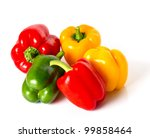 Bell Pepper Mix On White...
