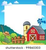 farm theme frame 1   vector... | Shutterstock .eps vector #99860303