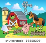 farm theme image 4   vector... | Shutterstock .eps vector #99860309