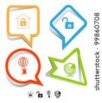business icon set. little man... | Shutterstock .eps vector #99860708