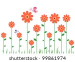 beautiful wall decal | Shutterstock .eps vector #99861974