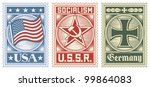 postage stamps collection  usa  ... | Shutterstock .eps vector #99864083