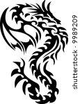 tribal dragon   Shutterstock .eps vector #9989209