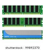 Set Of Computer Ram Memory Cards
