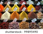 Many Spices At The Market.