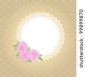 template  frame design for card | Shutterstock .eps vector #99899870