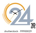 clock face. vector illustration | Shutterstock .eps vector #99900029