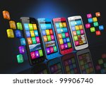 mobile communications and... | Shutterstock . vector #99906740