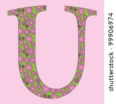 image of a flower alphabet font ... | Shutterstock .eps vector #99906974
