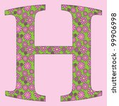 image of a flower alphabet font ... | Shutterstock .eps vector #99906998