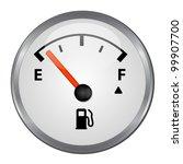 round empty gas tank... | Shutterstock . vector #99907700