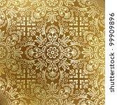seamless golden damask wallpaper   Shutterstock .eps vector #99909896