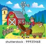 farm theme image 6   vector... | Shutterstock .eps vector #99935468