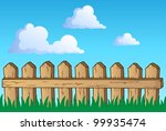 fence theme image 1   vector... | Shutterstock .eps vector #99935474