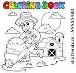 coloring book farm theme 3  ... | Shutterstock .eps vector #99935480