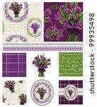 pretty vintage vector tulip... | Shutterstock .eps vector #99935498
