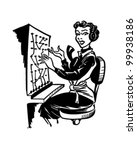 switchboard operator   retro... | Shutterstock .eps vector #99938186