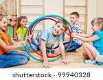 Children Playing In School Gym