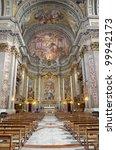 rome   interior   main altar of ... | Shutterstock . vector #99942173