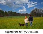 Stock photo romantic young couple in the park 99948338
