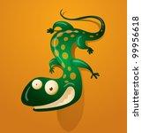 Vector Funny Lizard 5