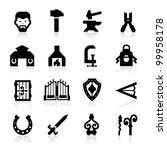 Blacksmith Icons Set   Elegant...