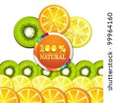 background with slice of orange ... | Shutterstock . vector #99964160