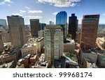 High rises in the financial district of Boston, Massachusetts. - stock photo