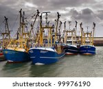 Modern Fishing Boats Under A...