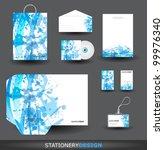 blue stationery design set in... | Shutterstock .eps vector #99976340