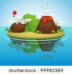 tropical island | Shutterstock .eps vector #99983384
