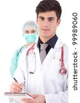 Team of young nurse and medic - stock photo
