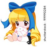 cute baby | Shutterstock . vector #99990284