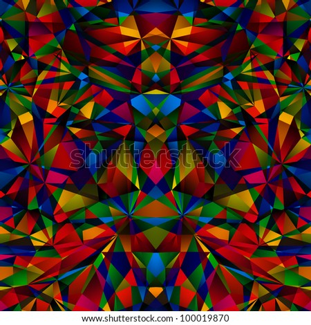 colorful geometric surface