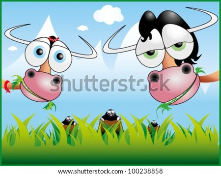 funny cow illustration 3