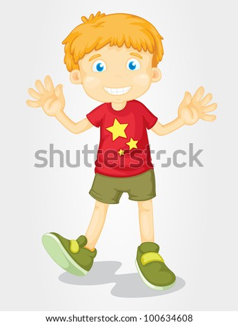 illustration of isolated boy in