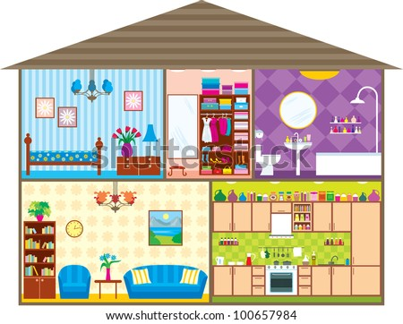 house in a vector
