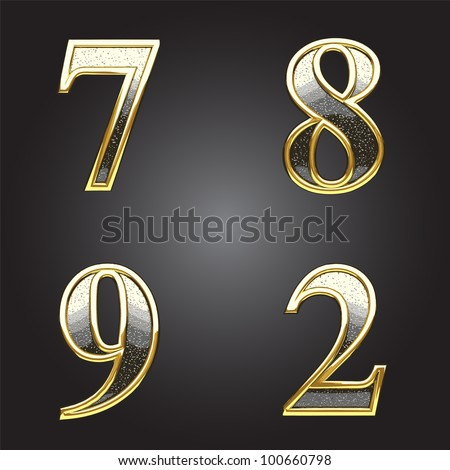golden and silver vector figure