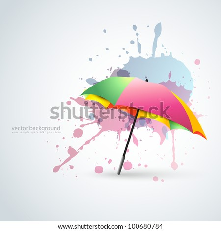 vector colorful umbrella in