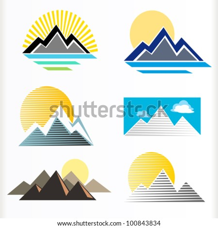 abstract mountain and hills