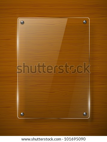 wooden texture with glass