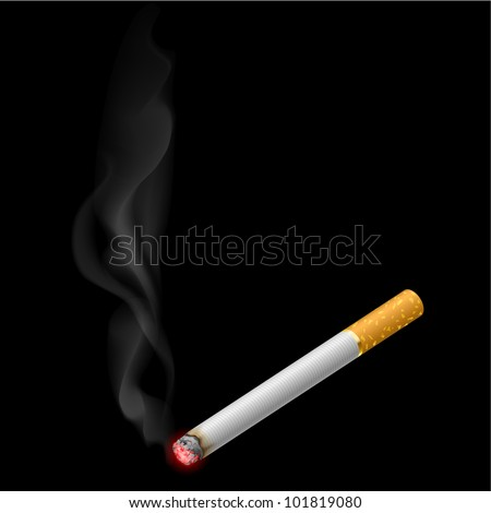 burning cigarette illustration
