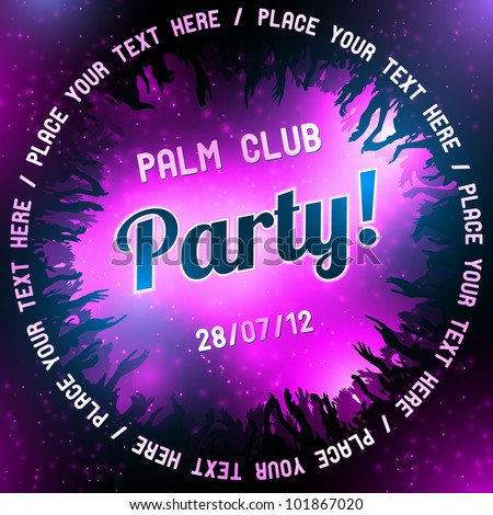 pink party flyer vector template