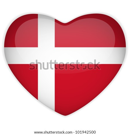 vector   denmark flag heart