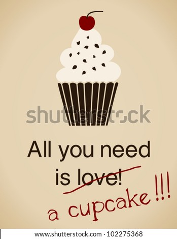 all you need is a cupcake card