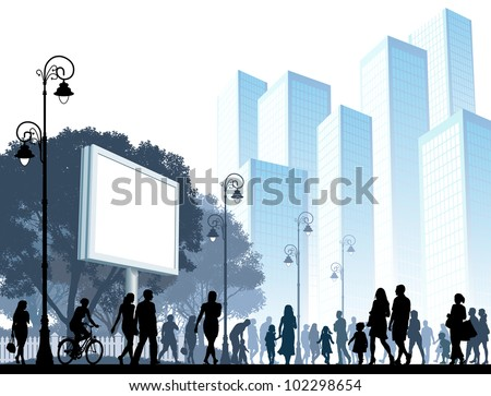 crowd of people walking on a