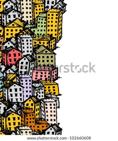 city sketch  seamless