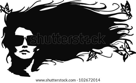 beautifull woman silhouette